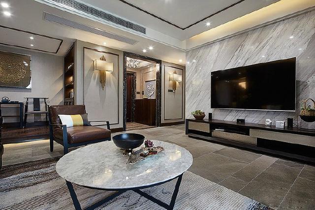 新中式风格装修效果图 最爱中国元素的家居 -品墨艺术