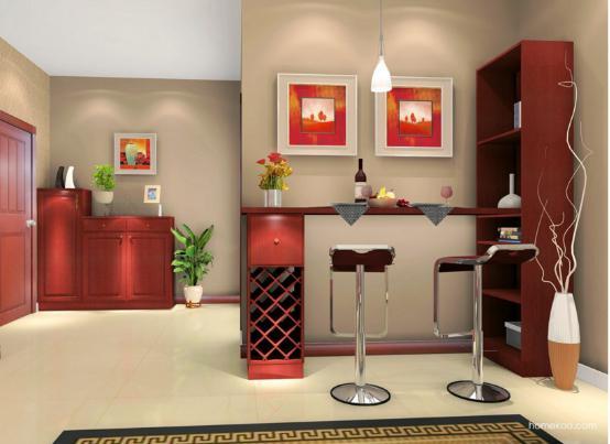 客厅吧台装修效果图