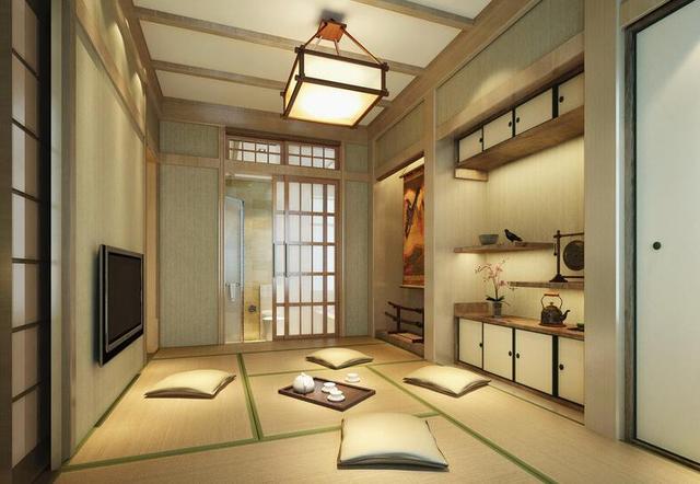 日式风格设计效果图 朴实无华暖意与激扬
