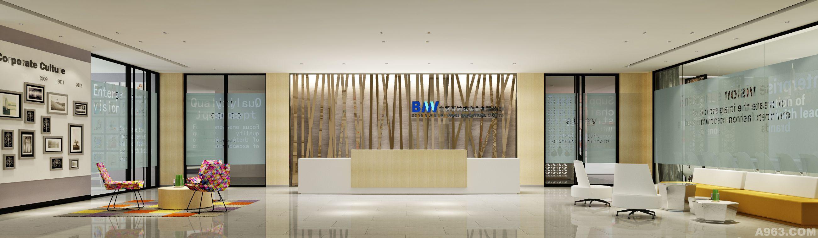服装厂办公室装修效果图案例      本案为服装设计公司的办公室装修