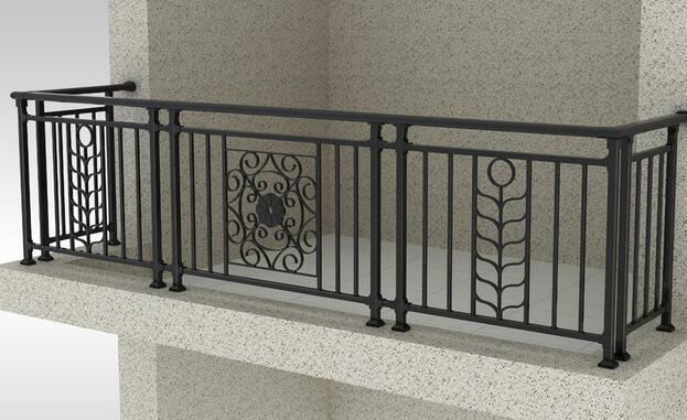 简单的铁艺栏杆点缀着黄色的大理石外立面,使整个别墅外表看起来不