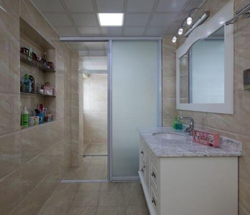 卫生间马克笔一点透视图