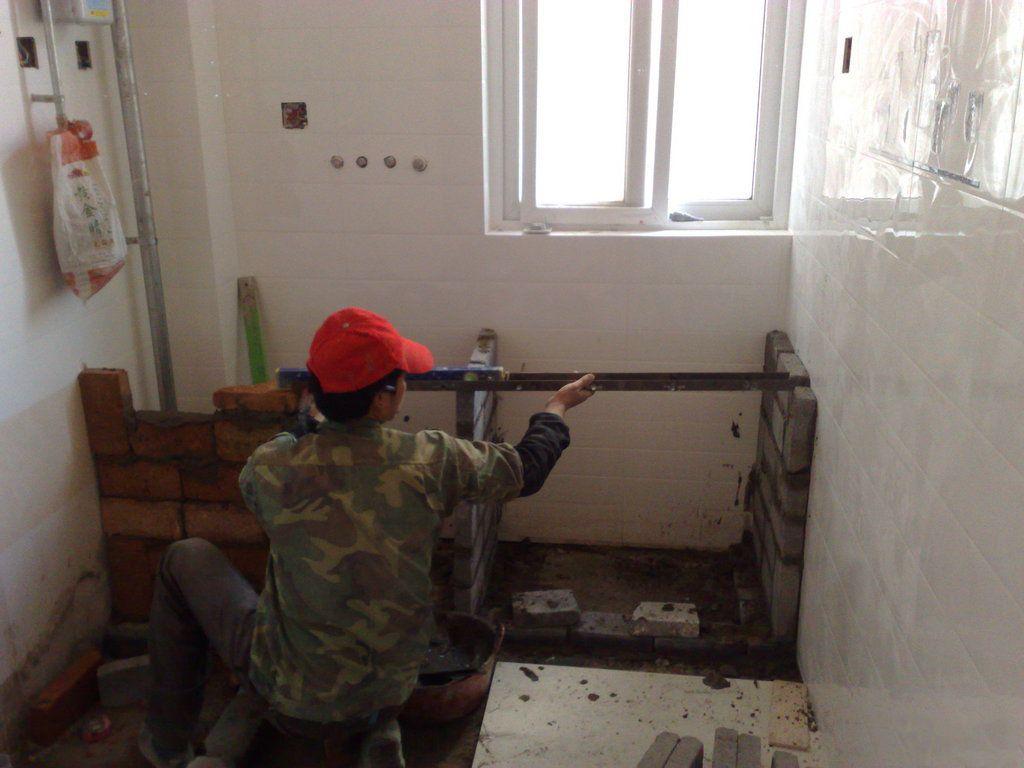 自制砖头厨房橱柜装修设计全过程及步骤图