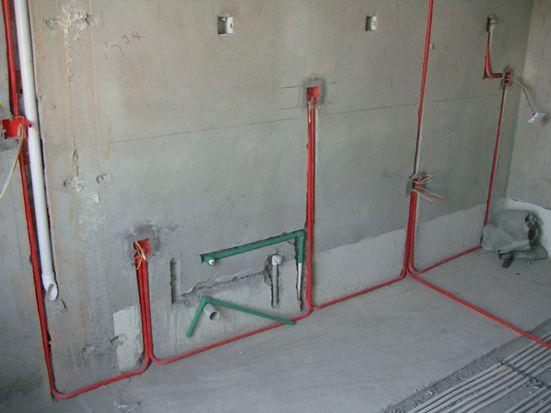 二,水电改造中   1,电路改造工艺标准:   5,卫生间水电施工标准