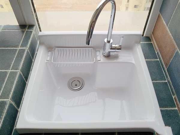 自砌阳台洗衣机槽,洗衣盆,洗衣台效果图过程案例