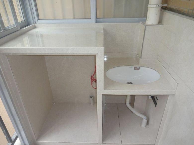 阳台全瓷洗衣机柜装修设计效果图案例