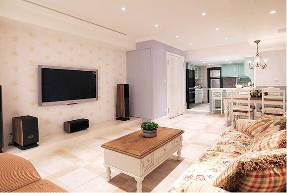 客厅墙顶壁纸装修网设计效果图—古典厨房大面积原木