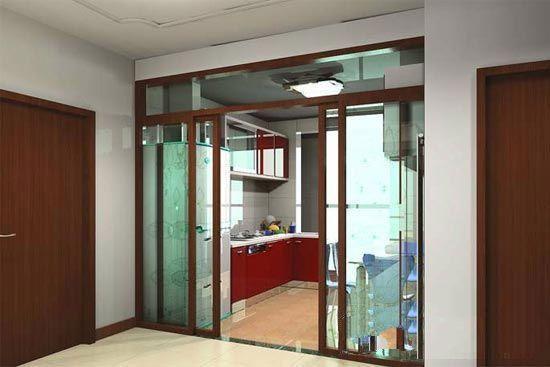 厨房玻璃推拉门装修设计图片案例