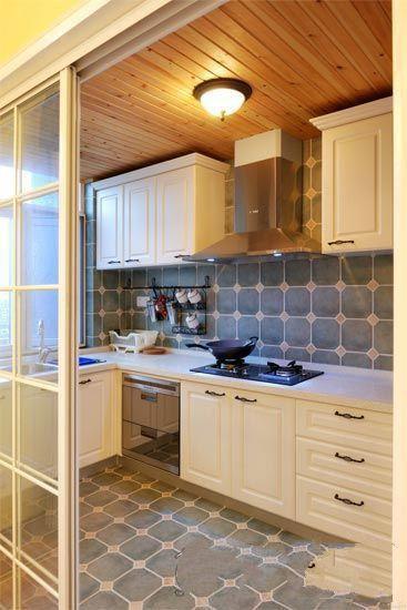 厨房玻璃推拉门装修设计图片案例图片