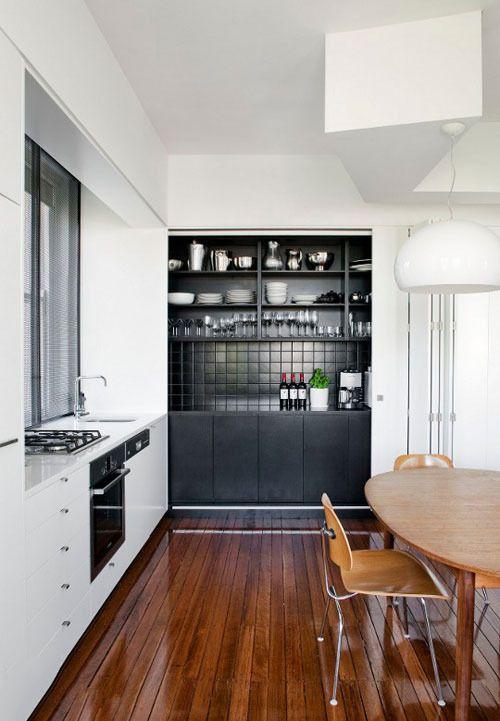 厨房和餐厅一体化装修设计效果图案例       小编推荐:餐厅中有了中岛