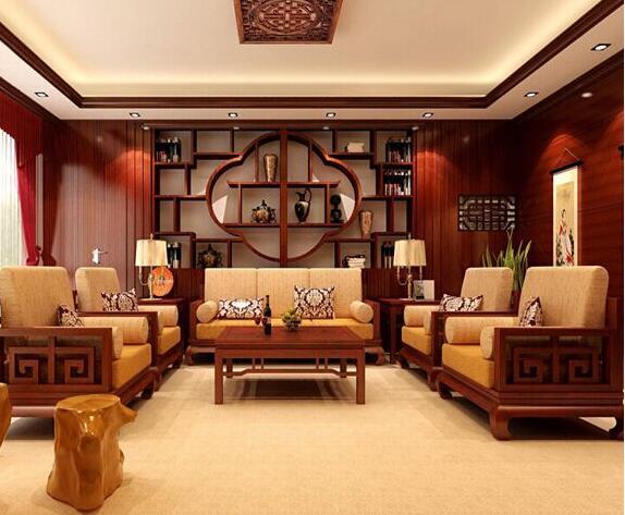 红木沙发客厅装修设计效果