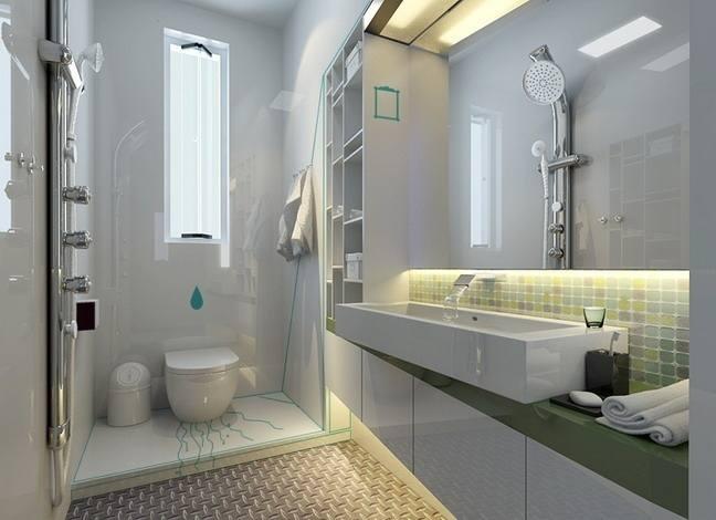 小空间也能大气十足    在小户型房屋盛行的时代,小洗手间设计也成为