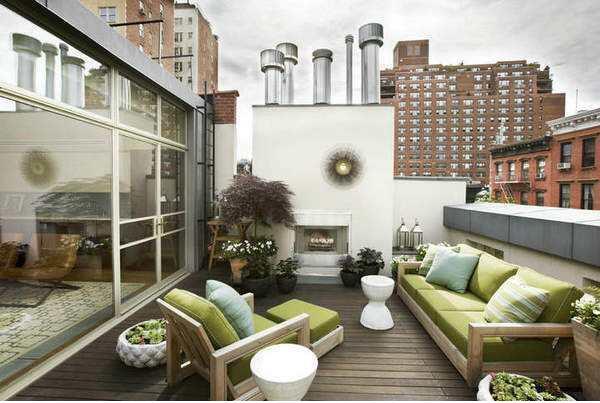 大阳台地板装修设计效果图案例