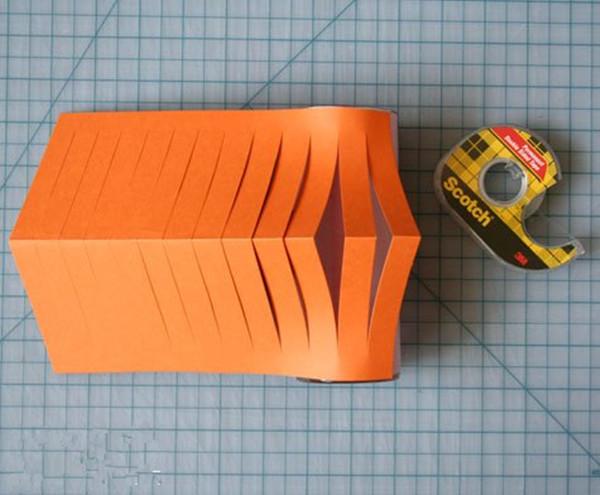 工剪纸纸灯笼制作
