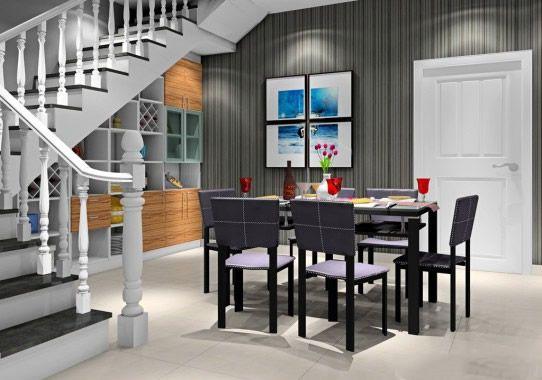客厅隔断柱子装修设计效果图案例