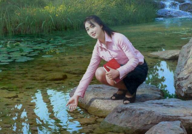 朝鲜油画的收藏价值价格图片