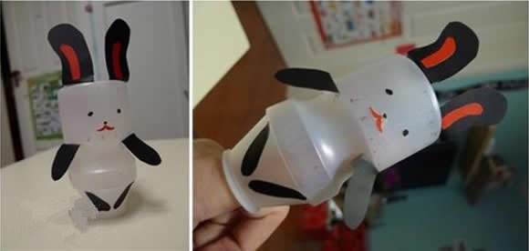 家居diy:养乐多瓶子手工制作玩具