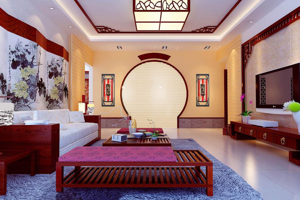 感受传统文化的熏陶,下面为你奉上几款中式客厅装修效果图,欣赏中国风