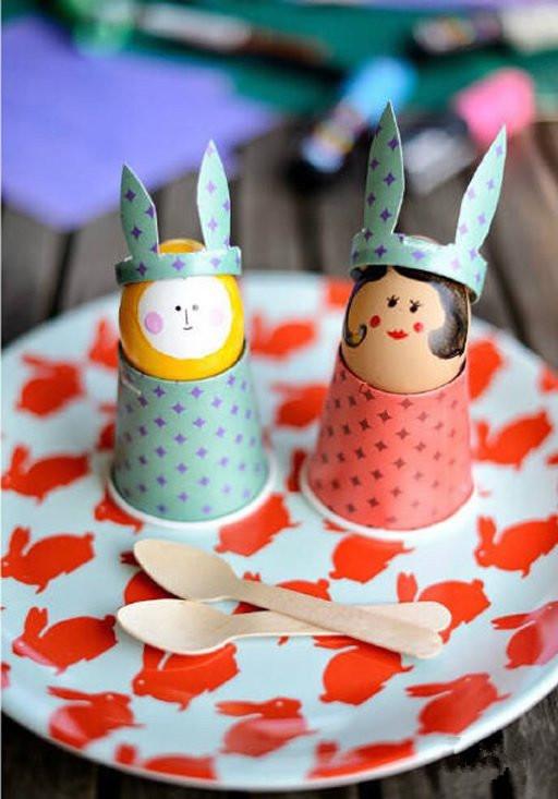 手工diy:一次性纸杯制作人偶的教程
