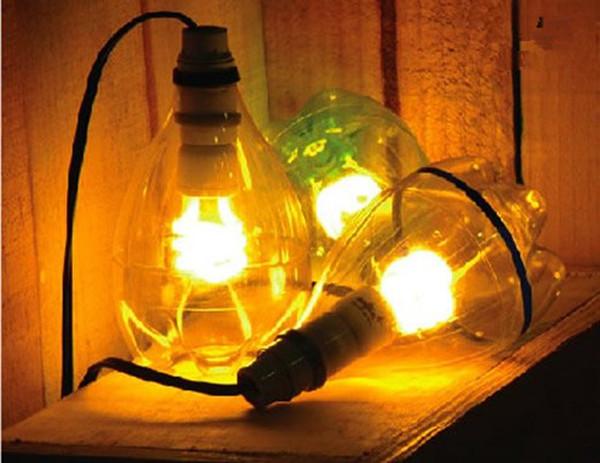 家居DIY:饮料瓶废物利用&nbsp;<wbr>雪碧瓶做灯具