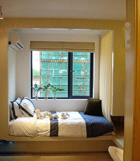 床铺飘窗二合一空间 8款卧室创意飘窗设计图片