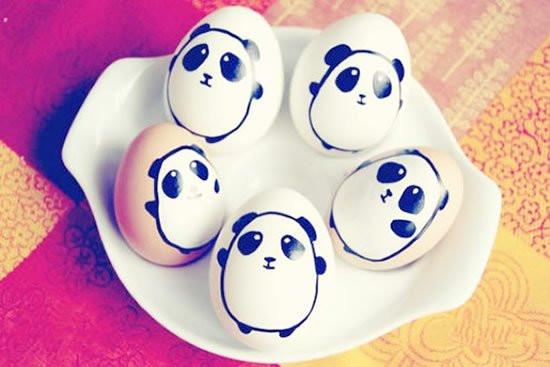 手工diy:手绘鸡蛋卡通图案