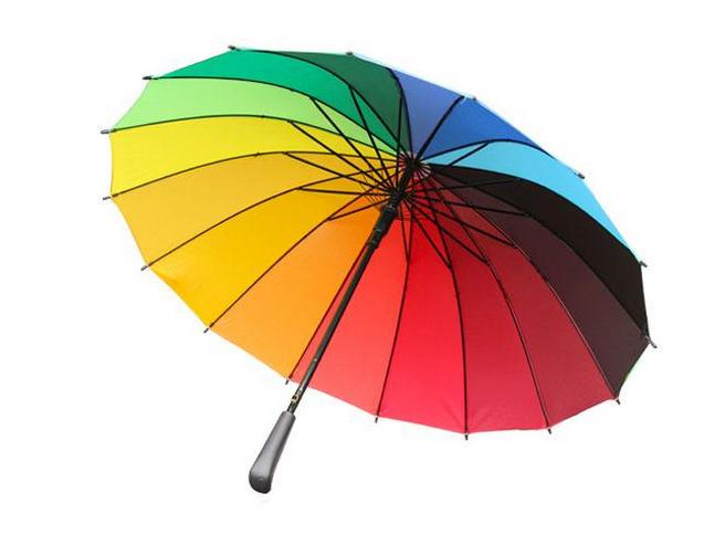 彩虹伞是一种提供阴凉环境或遮蔽雨、雪的工具。伞的制作材料通常包括了具延展性的布料,和其它可用作骨架的材料与缠线。使用时以手将之举起,虽然伞在最初发明时的主要目的,是用来阻挡阳光,但是现在最常被当作雨天挡雨的雨具。    彩虹伞的玩法   游戏名称:蒙古包   游戏目标:感受团体游戏带来的快乐   游戏准备:彩虹伞   游戏过程:家长和老师抓住彩虹伞的伞边,听老师的口令:一举高,二放手,三举高四的时候家长和宝宝一起到伞下病坐到伞边上。   游戏指导:家长用自己的情绪去感染孩子,多鼓励。   游戏名称:空