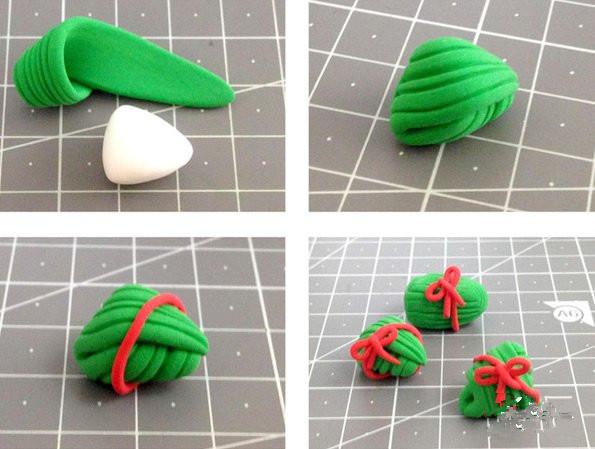 手工diy:超轻粘土粽子的做法 手工制作超轻粘土粽子