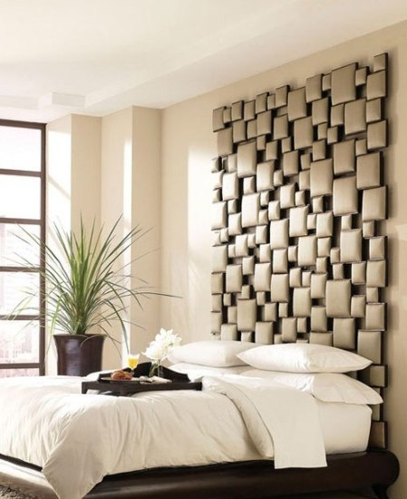 装修保障网 装修学堂 样板美图 创意卧室背景墙     好看的装饰画,挂图片