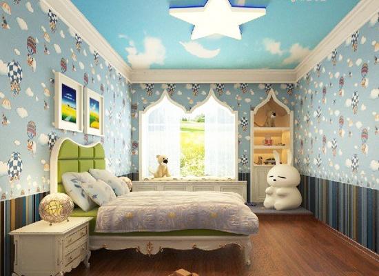 小孩房墙纸--根据房间的形状选择墙纸颜色
