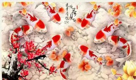 九鱼图可以调节住宅风水,真正的九鱼图具备两个特征:第一,鱼头