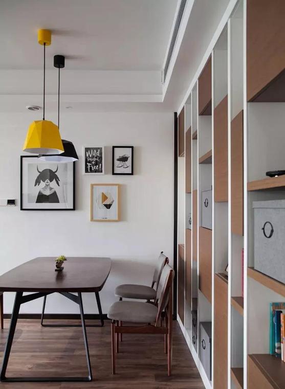 金港豪庭二房一厅北欧风装修效果图图片