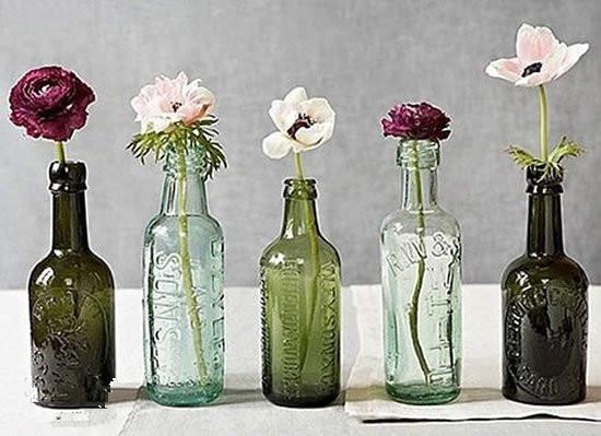 空瓶子废物利用_家居diy:小口空玻璃瓶废物利用diy_装修保障网