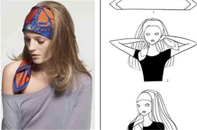 【图】大方丝巾怎么系 大方丝巾的系法图解