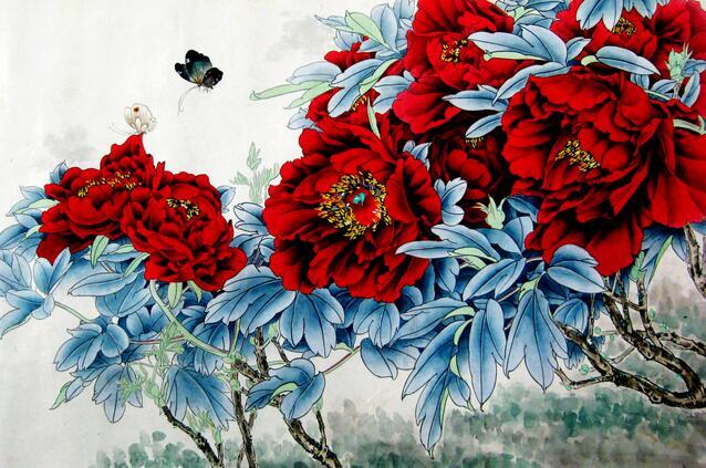 【图】国画牡丹画法 国画牡丹价格       国画牡丹,牡丹是国画花卉中图片