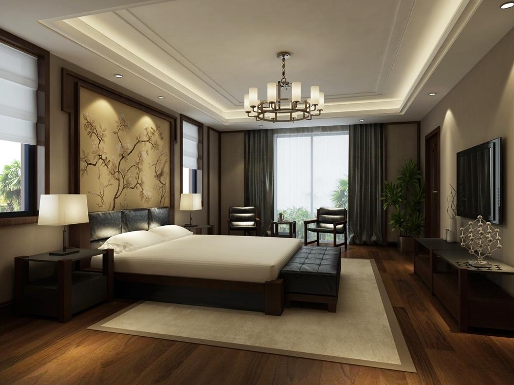 窗帘 别墅窗帘效果图展示 5种风格各具魅力            新中式风格图片