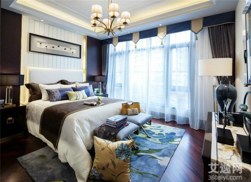 欧式窗帘风格颜色搭配技巧3,蓝色+橘色:现代