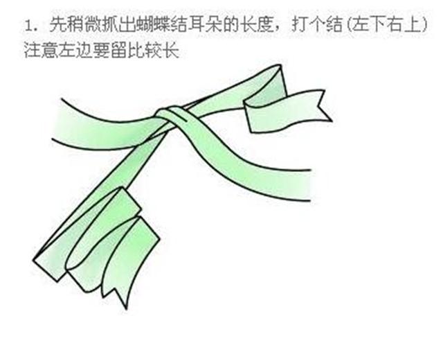 双蝴蝶结的系法图解       蝴蝶结是很多女孩都非常喜欢的装饰品,走在