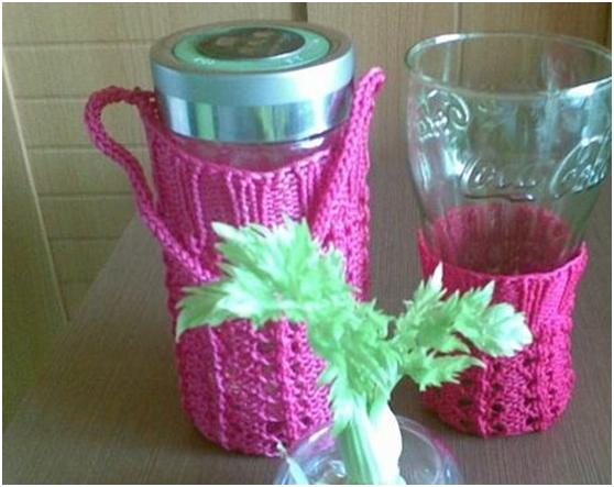 在水杯套款式设计上更加新颖时尚,具有浓郁的装饰性,那么杯子套的钩法图片
