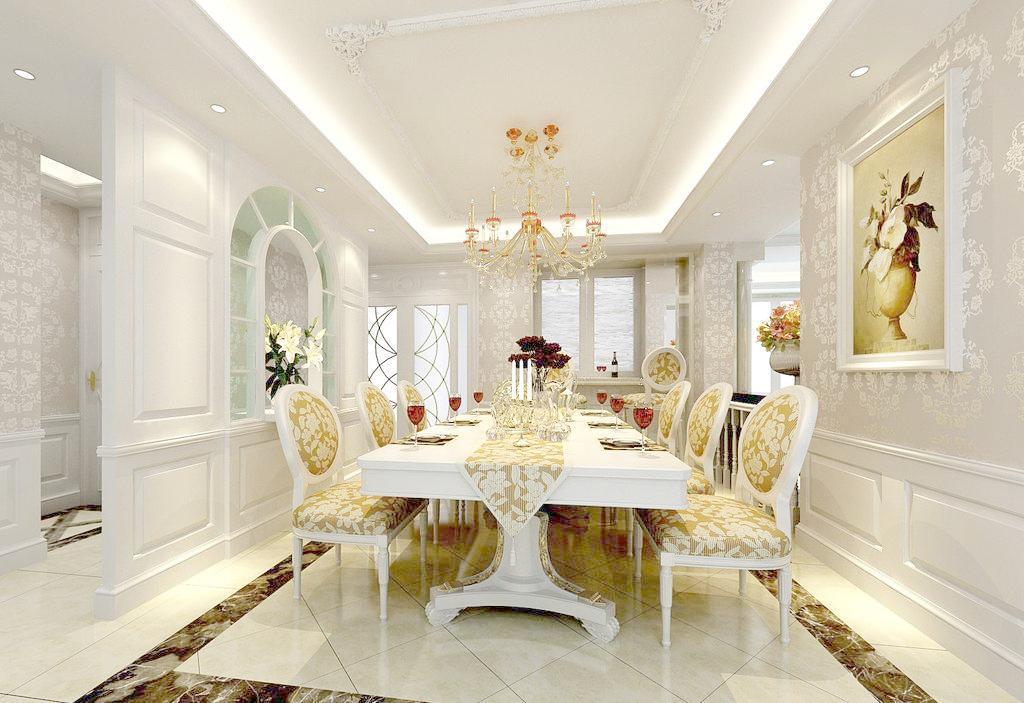 古典欧式风格别墅装修最大的特点是在造型上极其讲究,给人的感觉端庄图片