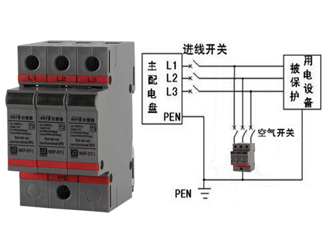 tn-s系统中浪涌保护器的接线图,tn-s系统是具有作用保护零线,即