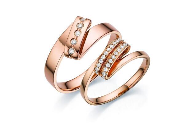 玫瑰金戒指款式品牌推荐图片