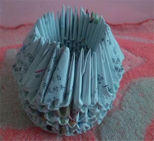 【图】纸菠萝的折法 纸菠萝的折法图解