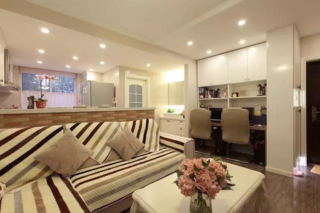 56平简欧风一室一厅,小户型也可以装修得如此棒!
