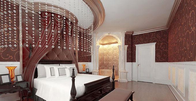 卧室床头墙纸和装修风格一致