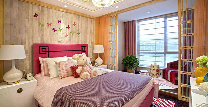 """打造温馨可爱卧室       这一类的女性充满""""孩子气"""",因而房间设计应具"""