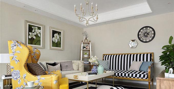 欧式田园风格的特点主要在于家具的洗白处理及大胆的配色,以