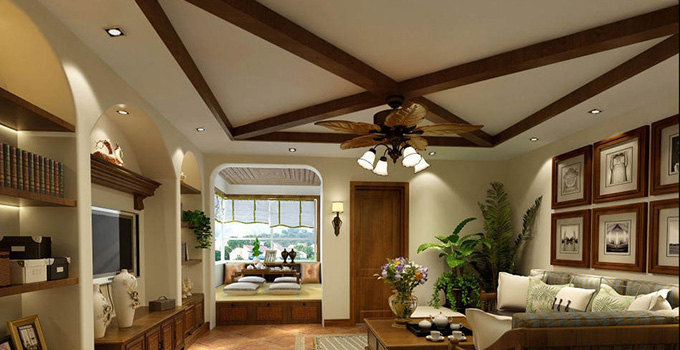 留白是创作上的一个技巧。由于留白,观赏者才有了想象的空间,作品也平添一种欲说还休的魅力。在家居设计中,空间同样讲求留白。此方案深知留白之妙,?#19981;?#24418;的天花带来高远的视觉感受。客厅中除了几件实用家具和雕塑外,并无繁杂的装饰,连色彩也是清清爽爽的浅绿和?#21672;?#25972;个设计显得那样的简单而舒适,让人感到最简就是最美的含义。