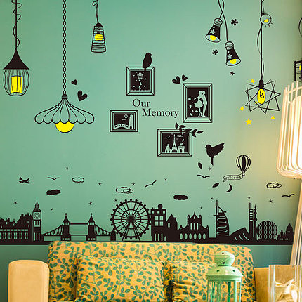 欧式创意壁纸宿舍寝室墙贴纸自粘墙上房间装饰品墙纸贴画卧室照片