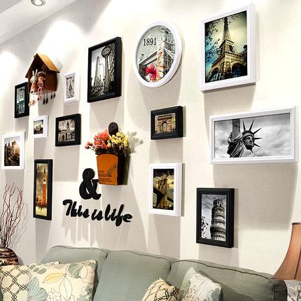 异客居照片墙相框墙相片墙实木欧式相框创意个性组合挂墙客厅卧室